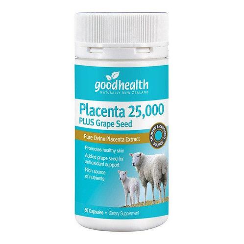 Good Health Placenta 25,000 Grape Seed 60c 好健康羊胎素葡萄籽精華60粒