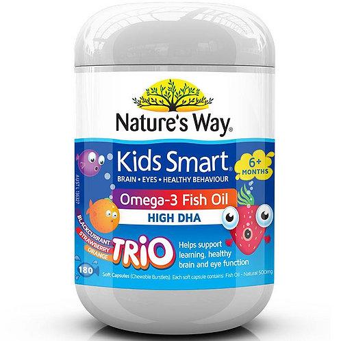 Nature's Way Omega3 Fish Oil Capsules 180c 兒童魚油膠囊水果味180粒