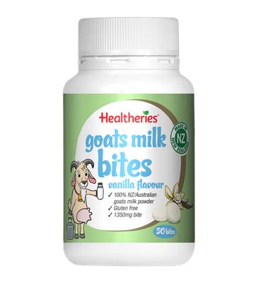 Healtheries Goats Milk Bites Vanilla 50t 羊奶片香草味50粒