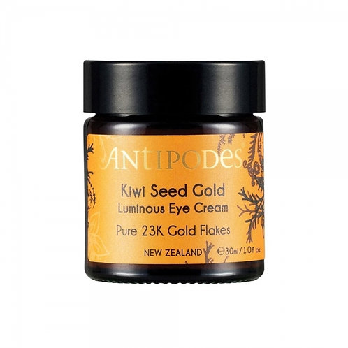 Antipodes Kiwi Seed Gold Luminous Eye Cream Pure 23K Gold Flakes 30ml 純金臻至黃金眼霜