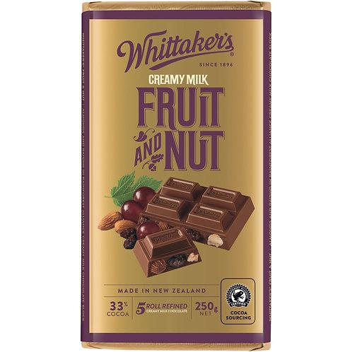 Whittakers Fruit & Nut Block 250g 水果堅果朱古力