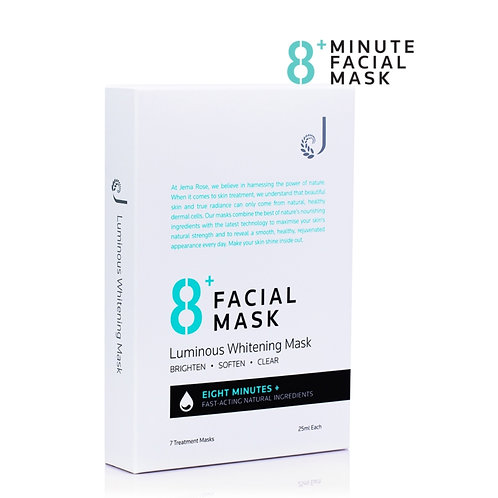 Jema Rose 8+ Minutes Luminous Whitening Mask (25ml*7) 8分鐘美白面膜7片
