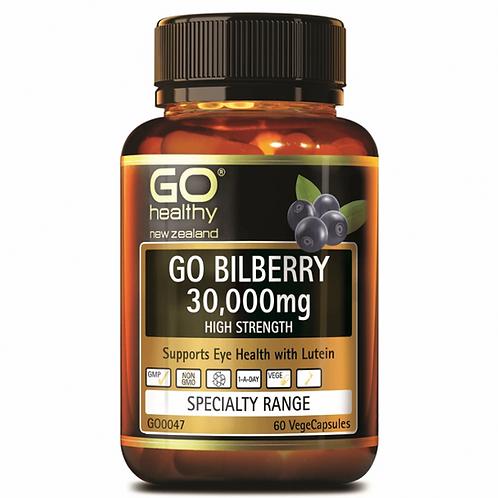 Go Healthy Go Bilberry 30000mg 60 Capsules 藍莓越橘護眼精華30000mg 60粒