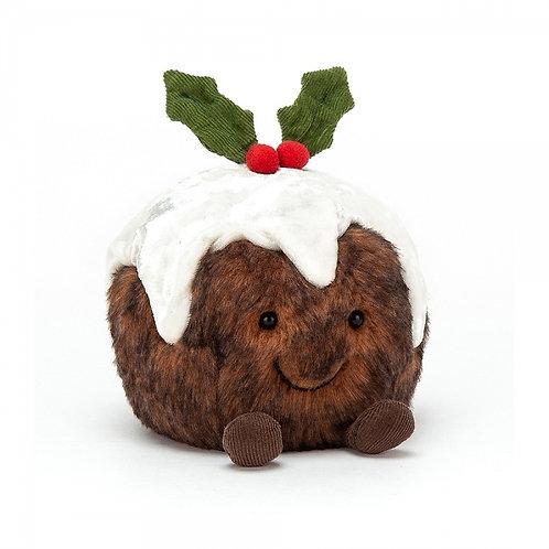 Jellycat Amuseable Christmas Pudding 14cm 歡樂聖誕布丁