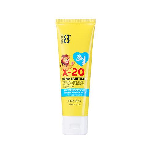 Jema Rose X-20 Hand Sanitiser 80ml (No Alcohol) 銀離子抗菌免洗手液(不含洒精)