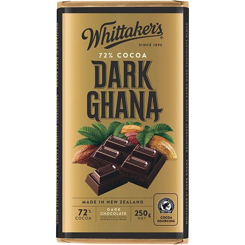 Whittakers 72% Dark Ghana Block 250g 香滑黑朱古力