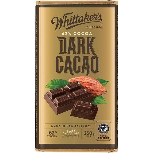 Whittakers 62% Dark Cacao Block 250g 香滑黑朱古力