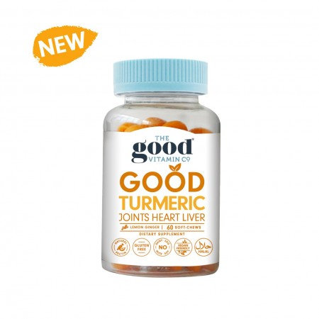 The Good Vitamin Co Turmeric Joint Heart Liver 60 Soft Chews 薑黃素關節軟糖60粒