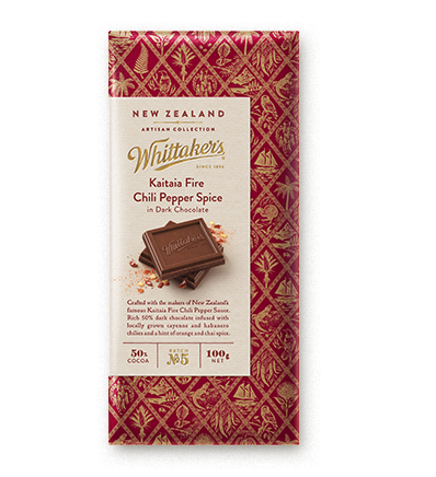 Whittakers Kaitaia Fire Chili Pepper Spice Block 100g 火辣椒黑朱古力
