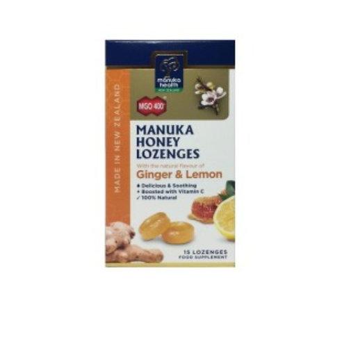 Manuka Health Manuka Honey Lozenges - Ginger & Lemon 15c 麥蘆卡蜂蜜檸檬薑味喉糖15粒