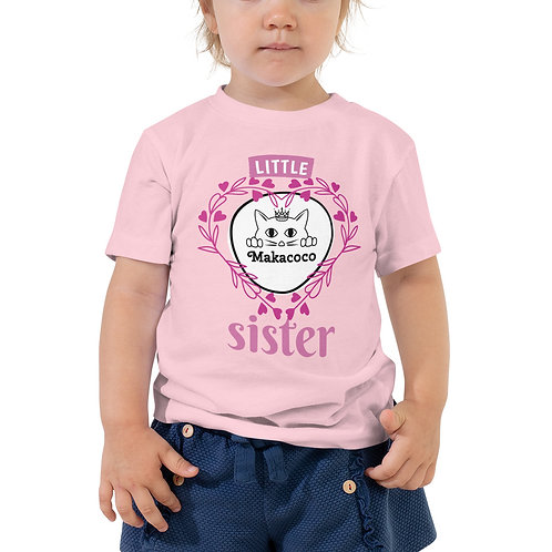 Makacoco Toddler Short Sleeve Tee - Little sister