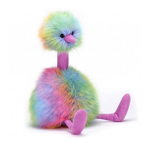 Jellycat Rainbow Ostrich 彩虹鴕鳥