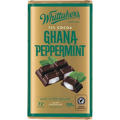 Whittakers Ghana Peppermint Blockk 250g 薄荷黑朱古力