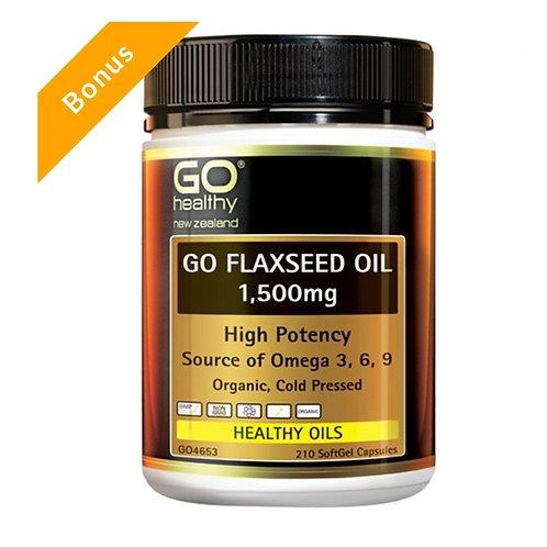 Go Healthy Flaxseed Oil 1500mg 210c 高含量亞麻籽油軟膠囊210粒