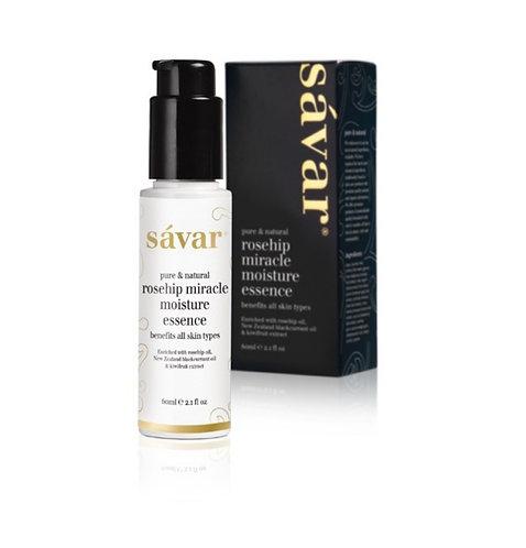 Savar Rosehip Miracle Moisture Essence 60ml (All Skin Types) 玫瑰果奇蹟保濕精華 (所有膚質)