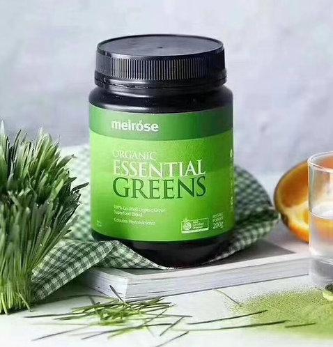 Melrose Organic Essential Greens 200g 全能綠瘦子沉澱纖維粉200g