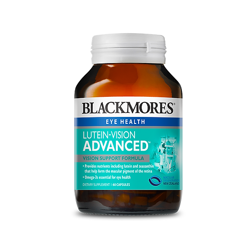 Blackmores Eye Health Lutein-Vision Advanced 60c 葉黃素護眼膠囊 加強版 60粒