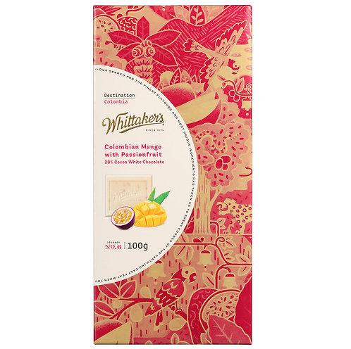 Whittakers White Choco Mango Passionfruit Chocolate Block 100g 芒果百香果白朱古力