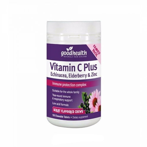 Good Health Vitamin C Plus Echinacea, Elderberry & Zinc 150t 維生素C紫錐花接骨木加鋅咀嚼片150片