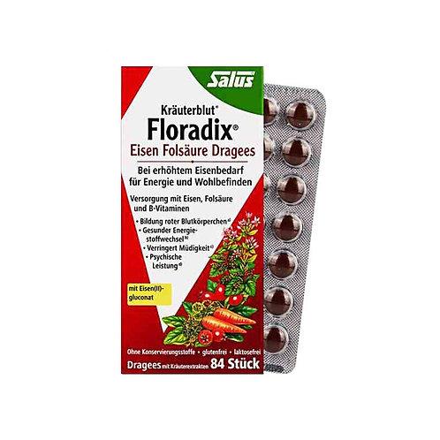 Floradix Eisen Folsaure Dragees 84 Tablets 鐵元補血片84粒