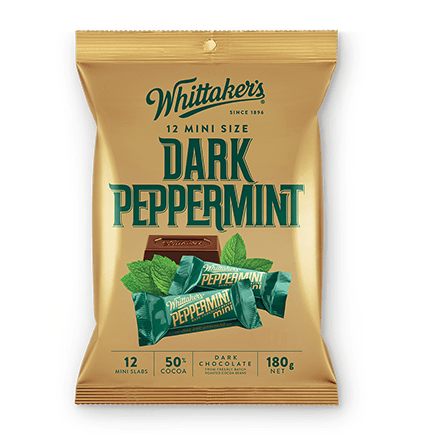Whittakers Mini Size Dark Peppermint Slab (12pcs/180g) 薄荷黑朱古力