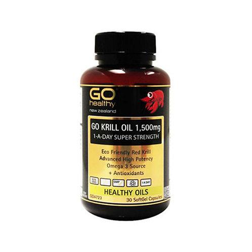 Go Healthy Krill Oil 1500mg 60 softgel capsules 高含量磷蝦油膠囊 60粒