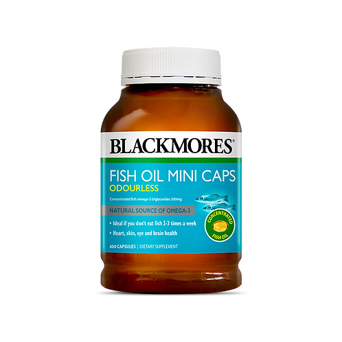 Blackmores Odourless Fish Oil Mini 400c 澳佳寶 無腥味魚油膠囊400粒