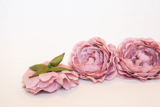 One Beautiful Vintage Inspired Garden Rose in Antique Pink - Artificial Flower -