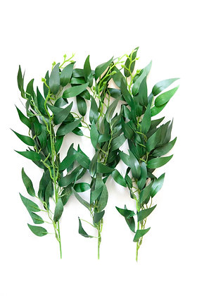 3 Foliage Branches in Green