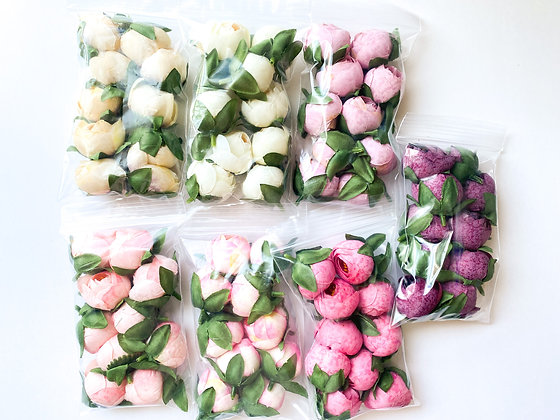 10 Rose Buds - CHOOSE COLOR