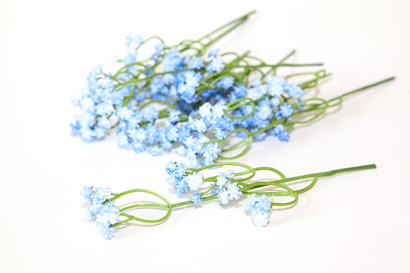 Blue and White Toned Gypsophila - Babies Breath