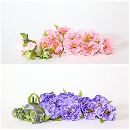 13 Roses Bud to Bloom in PINK or PURPLE - CHOOSE COLOR