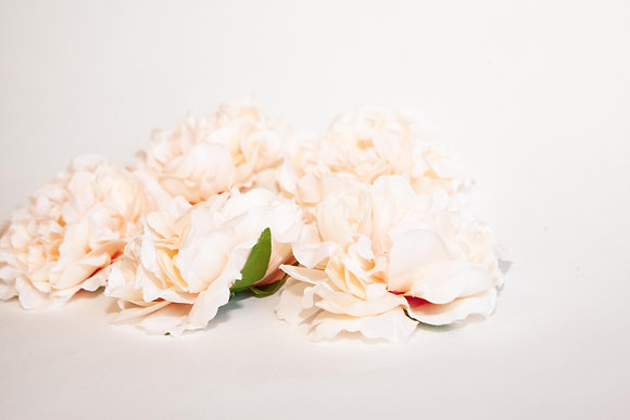 3 Scalloped Peonies in Light Coral Peach