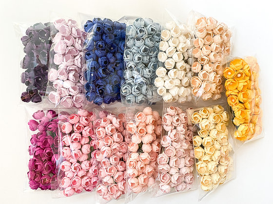 50 Buttercup Paper Flowers - CHOOSE COLOR