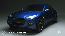 Genesis coupe_Rnesis coupe_Rendering