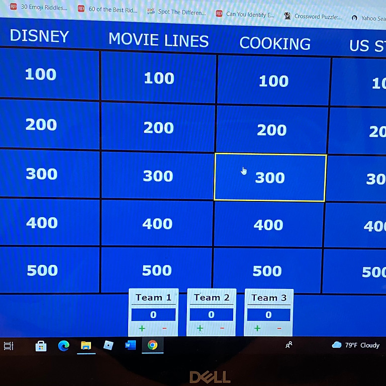 Picture Jeopardy