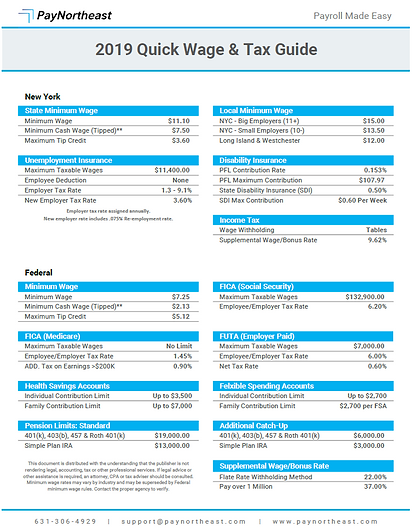 New York Wage & Tax Guide
