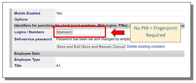 TimeWorksPlus Require Fingerprint