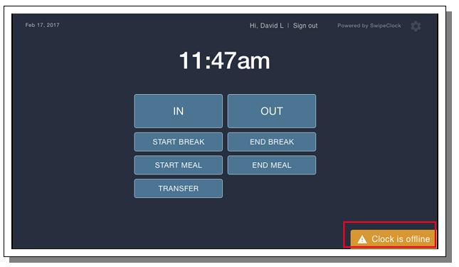 TimeWorkTouch Offline Mode