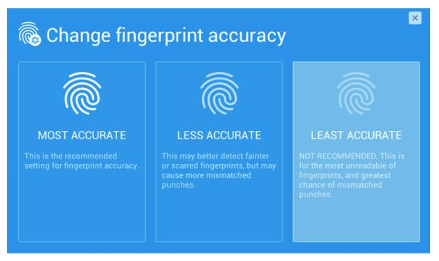 Change Fingerprint Accuracy | TimeWorkTouch