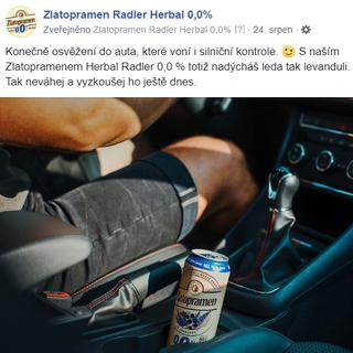 Zlatopramen Radler Herbal 0,0 %