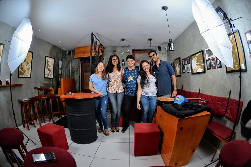 Da esquerda para a direita: Elisangela, Sara, Artur, Nayara e Rostand.