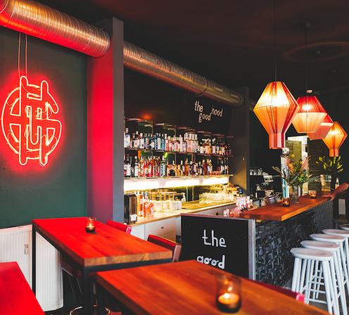 7 lamps at the Bar Goodhood, Bielefeld