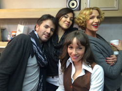 with the Cast