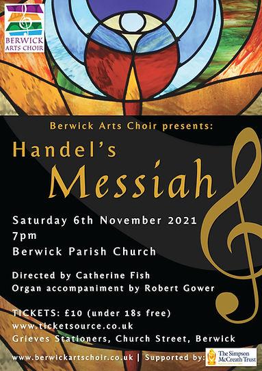 Berwick Arts Choir presents Handel's Messiah - Concert on 6th November 2021