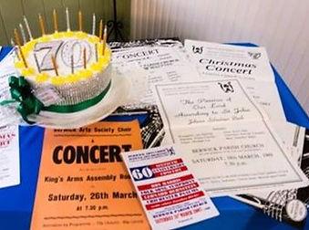 Choir concert memorabilia