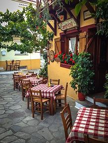 A little Italian restaurant in Skiathos.