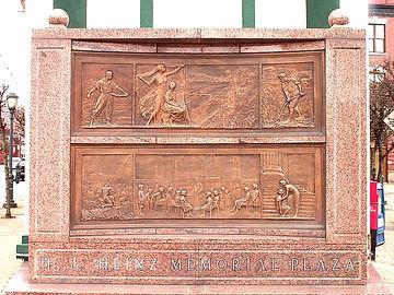 The HJ Heinz Memorial Plaza statue