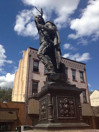 Chief Guyasuta Statue in Sharpsburg, PA