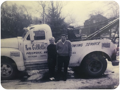 Ron & Patty Gillette, owners in 1955 of Natrona Heights towing